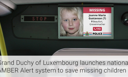 Grand Duchy Of Luxembourg Launches National AMBER Alert System To Save Missing Children